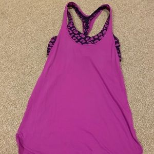 Lululemon tank top with bra